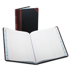 BOR38300J - Boorum  Pease® Record and Account Book with Black and Red Cover