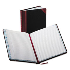 BOR38300R - Boorum  Pease® Record and Account Book with Black and Red Cover