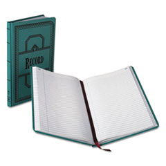 BOR66300R - Boorum  Pease® Record and Account Book with Blue Cover