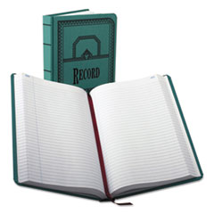 BOR66500R - Boorum  Pease® Record and Account Book with Blue Cover
