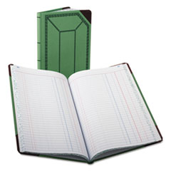 BOR6718150J - Boorum  Pease® Record and Account Book with Green and Red Cover
