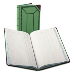 BOR6718300J - Boorum  Pease® Record and Account Book with Green and Red Cover
