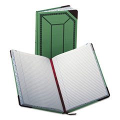 BOR6718300R - Boorum  Pease® Record and Account Book with Green and Red Cover