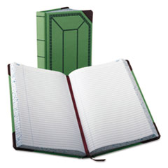 BOR6718500R - Boorum  Pease® Record and Account Book with Green and Red Cover