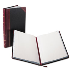 BOR9300R - Boorum  Pease® Record and Account Book with Black and Red Cover