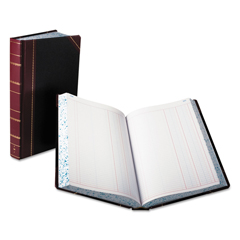 BOR9500J - Boorum  Pease® Record and Account Book with Black and Red Cover