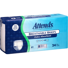 MON25553101 - AttendsIncontinent Brief Attends Tab Closure Regular Disposable Moderate Absorbency