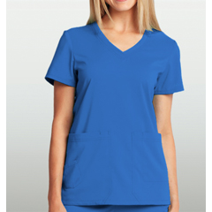 BRC8102-08-XS - BarcoKD110™ Camy Hidden Pocket Short Sleeve Scrub Top