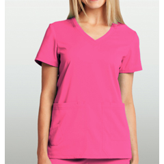 BRC8102-61-M - BarcoKD110™ Camy Hidden Pocket Short Sleeve Scrub Top