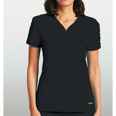 BRC8103X-01-4XL - BarcoKD110™ Lexi Shirred Short Sleeve Scrub Top