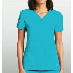 BRC8103X-348-5XL - BarcoKD110™ Lexi Shirred Short Sleeve Scrub Top