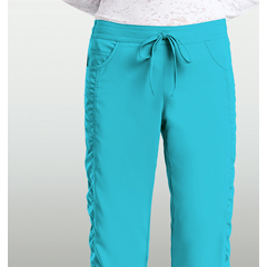 BRC8201P-348-XS - BarcoKD110™ Kayla Shirred Seam Scrub Pant
