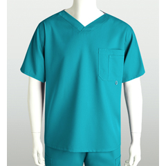 BRC0107-39-L - Grey's AnatomyMens 3-Pocket High Open V-Neck Scrub Top