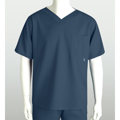 BRC0107X-905-4XL - Grey's AnatomyMens 3-Pocket High Open V-Neck Scrub Top