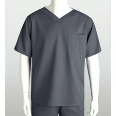 BRC0107X-912-2XL - Grey's AnatomyMens 3-Pocket High Open V-Neck Scrub Top