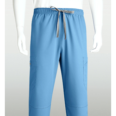 BRC0212-40-M - Grey's AnatomyMens 6-Pocket GA Logo Elastic-Back Scrub Bottoms