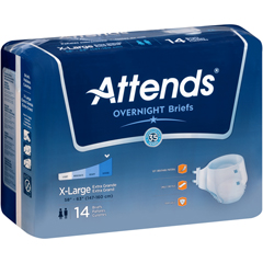 MON44403100 - AttendsIncontinent Brief Attends Tab Closure X-Large Disposable Heavy Absorbency