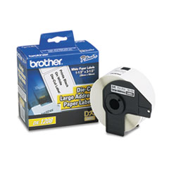 BRTDK1208 - Brother® Pre-Sized Die-Cut Label Roll for QL Label Printers