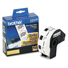 BRTDK1218 - Brother® Pre-Sized Die-Cut Label Roll for QL Label Printers