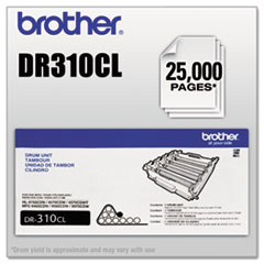 BRTDR310CL - Brother DR310CL Drum Unit, 25,000 Page-Yield, Black