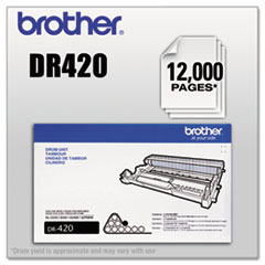 BRTDR420 - Brother DR420 Drum Unit, 12,000 Page-Yield, Black