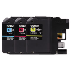 BRTLC1013PKS - Brother LC1013PKS, LC1013PKS Ink, 300 Page-Yield, Cyan, Magenta, Yellow, 3/Pk