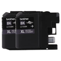 BRTLC1032PKS - Brother LC1032PKS, LC1032PKS, High-Yield Ink, 600 Page-Yield, Black