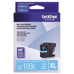 BRTLC103C - Brother LC103C, LC-103C, Innobella High-Yield Ink, 600 Page-Yield, Cyan