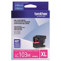 BRTLC103M - Brother LC103M, LC-103M, Innobella High-Yield Ink, 600 Page-Yield, Magenta