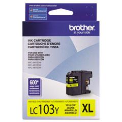 BRTLC103Y - Brother LC103Y, LC-103Y, Innobella High-Yield Ink, 600 Page-Yield, Yellow