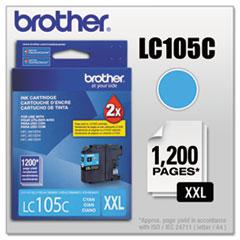 BRTLC105C - Brother LC105C, LC-105C, Innobella Super High-Yield Ink, 1200 Page-Yield, Cyan