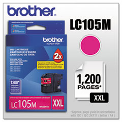 BRTLC105M - Brother LC105M, LC-105M, Innobella Super High-Yield Ink, 1200 Page-Yield, Magenta
