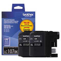BRTLC1072PKS - Brother LC1072PKS, LC-107BK, Innobellla Super High-Yield Ink, 1200 Page-Yield, 2/Pk