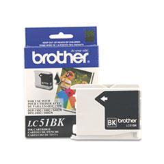 BRTLC51BK - Brother LC51BK Innobella Ink, 500 Page-Yield, Black