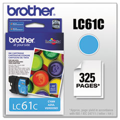BRTLC61C - Brother LC61C (LC-61C) Innobella Ink, 325 Page-Yield, Cyan