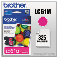 BRTLC61M - Brother LC61M (LC-61M) Innobella Ink, 325 Page-Yield, Magenta