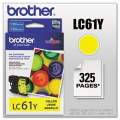 BRTLC61Y - Brother LC61Y (LC-61Y) Innobella Ink, 325 Page-Yield, Yellow
