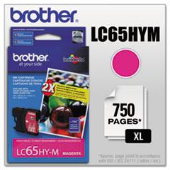BRTLC65HYM - Brother LC65HYM (LC-65HYM) Innobella High-Yield Ink, 750 Page-Yield, Magenta
