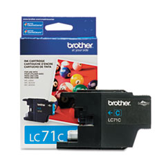 BRTLC71C - Brother LC71C (LC-71C) Innobella Ink, 300 Page-Yield, Cyan