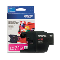 BRTLC71M - Brother LC71M (LC-71M) Innobella Ink, 300 Page-Yield, Magenta