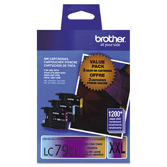 BRTLC793PKS - Brother LC793PKS (LC-79CMY) Innobella Super High-Yld Ink, C, M, Y, 1200 Page-Yield, 3/Pk