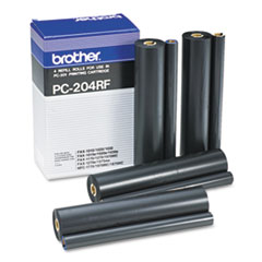 BRTPC204RF - Brother PC204RF Thermal Transfer Refill Roll, Black, 4/Pack