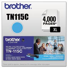 BRTTN115C - Brother TN115C High-Yield Toner, 4000 Page-Yield, Cyan