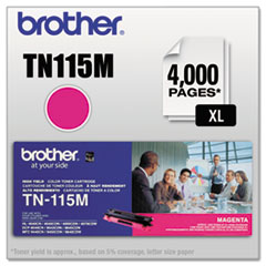 BRTTN115M - Brother TN115M High-Yield Toner, 4000 Page-Yield, Magenta