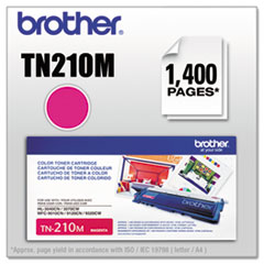 BRTTN210M - Brother TN210M Toner, 1400 Page-Yield, Magenta