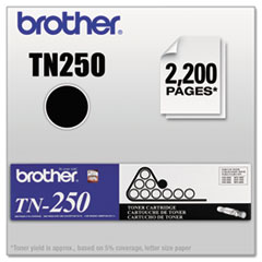 BRTTN250 - Brother TN250 Toner, 2200 Page-Yield, Black