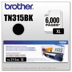 BRTTN315BK - Brother TN315BK (TN-315BK) High-Yield Toner, 6,000 Page-Yield, Black