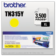BRTTN315Y - Brother TN315Y (TN-315Y) High-Yield Toner, 3,500 Page-Yield, Yellow