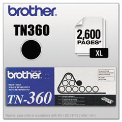 BRTTN360 - Brother TN360 High-Yield Toner, 2600 Page-Yield, Black