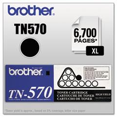 BRTTN570 - Brother TN570 High-Yield Toner, 6700 Page-Yield, Black